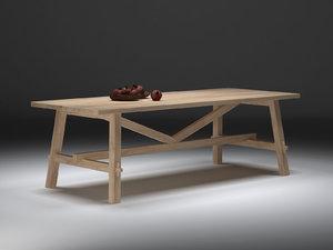 möckelby table ikea 3D model