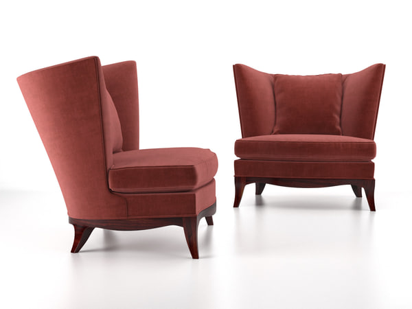 geneva club chair 3D