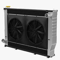 engine radiator 3D model