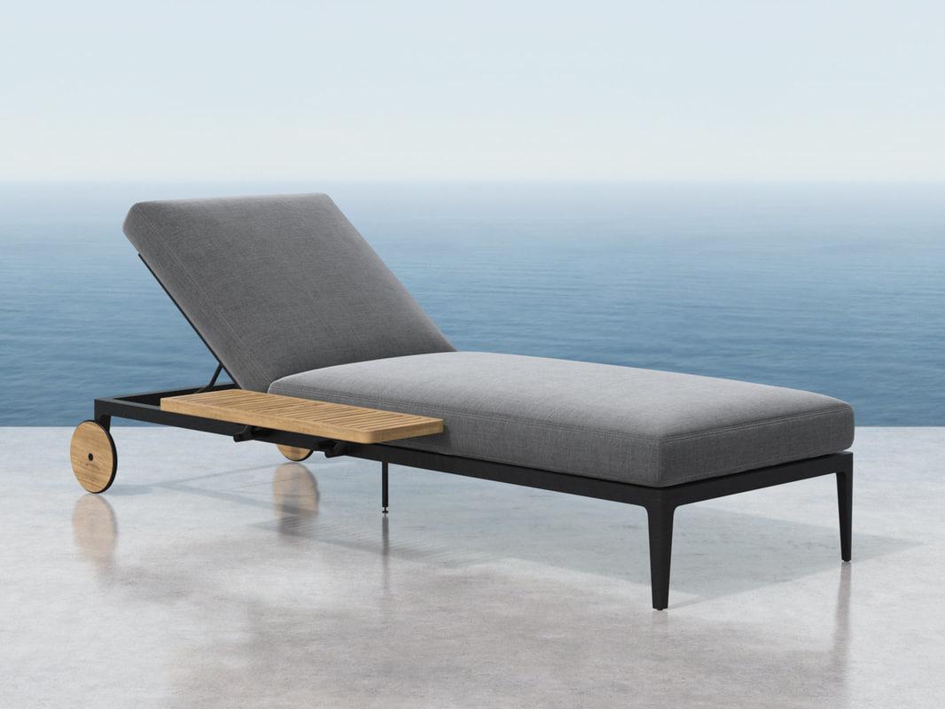 grid lounger 3D model