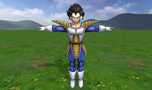 3D model vegeta dragonball strong