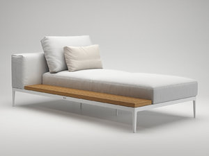 grid chaise unit 3D