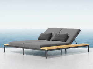 3D grid double lounger