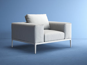 3D grid armchair model