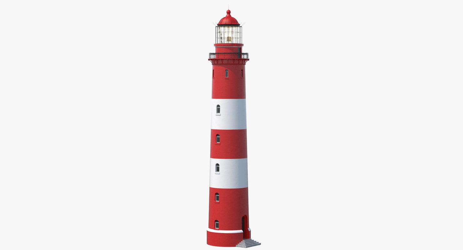 3D lighthouse lit model
