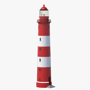 3D lighthouse lit model