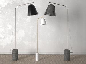 line floor lamp 3D model