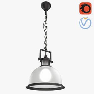 loft frosted glass lamp 3D model
