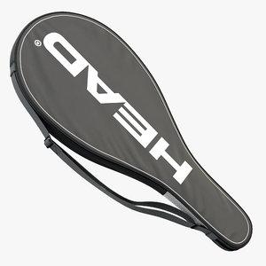 3D model tennis racket head