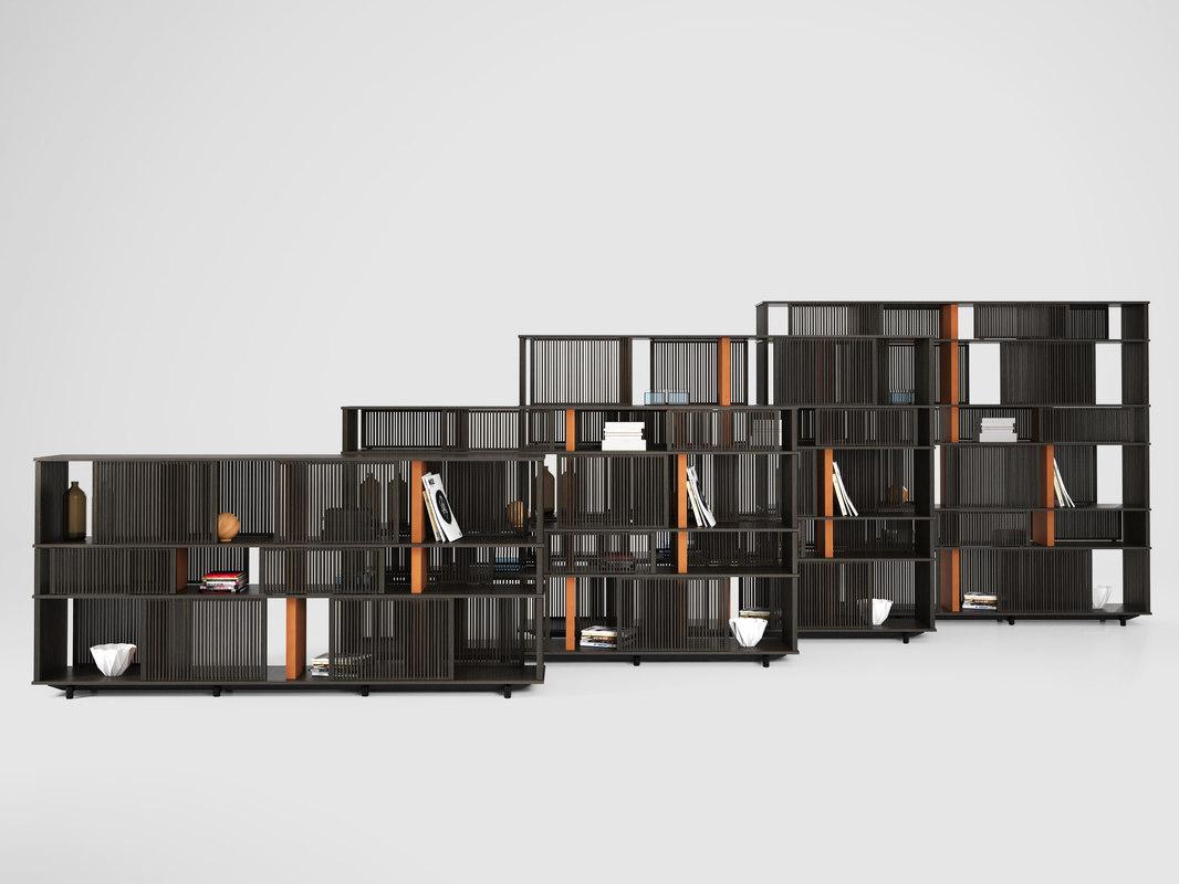 3D lloyd bookcase 225