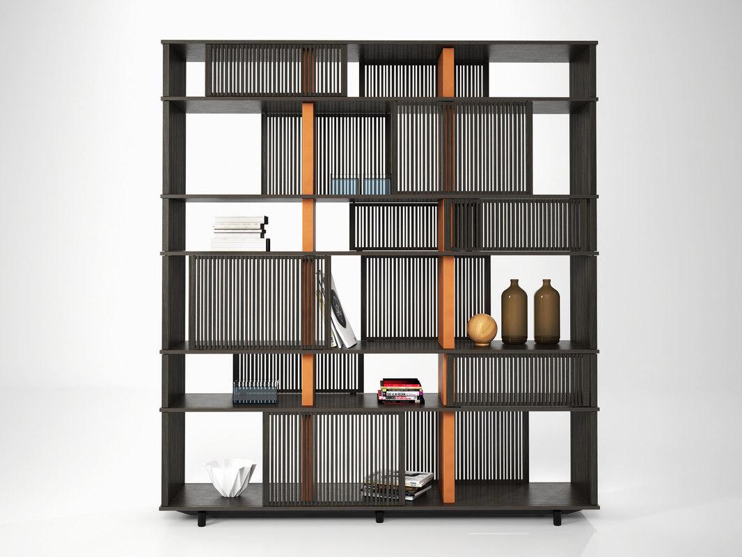 3D lloyd bookcase 170 model