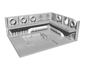 3D sci-fi room engine