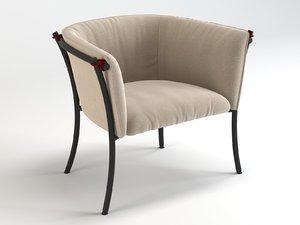 3D smeralda armchair