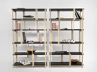 mondrian bookshelf 3D