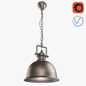 loft grunge metal lamp 3D