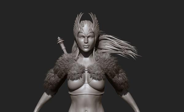 3D model zbrush body