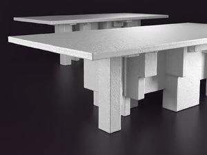 primitive table 3D model