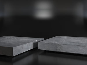 marble plinth square coffee table 3D model