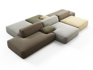 3D cloud sofa 02