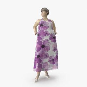 3D model size mannequin 01 pose