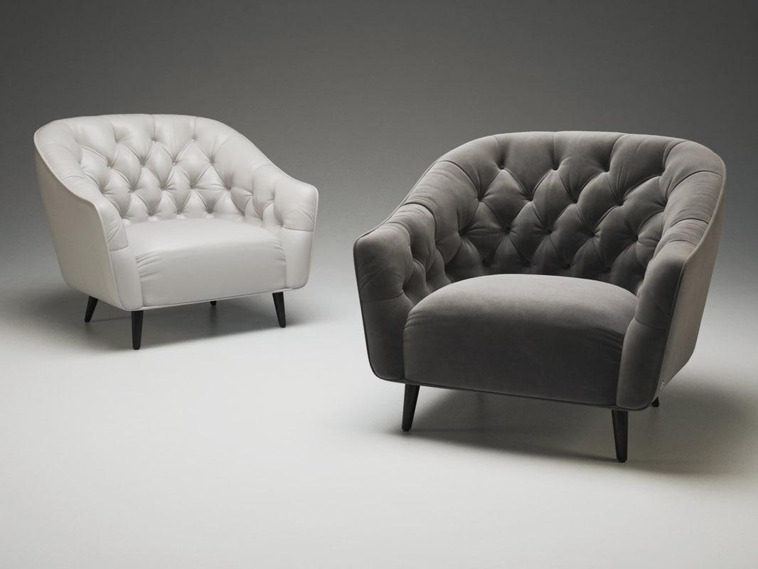 amouage armchair 3D model