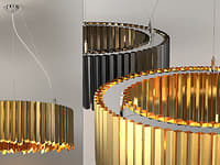 3D facet chandelier