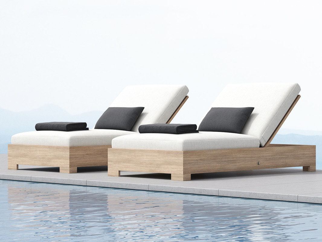 belvedere chaise 3D model