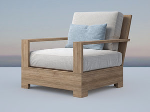 belvedere luxe lounge chair 3D model