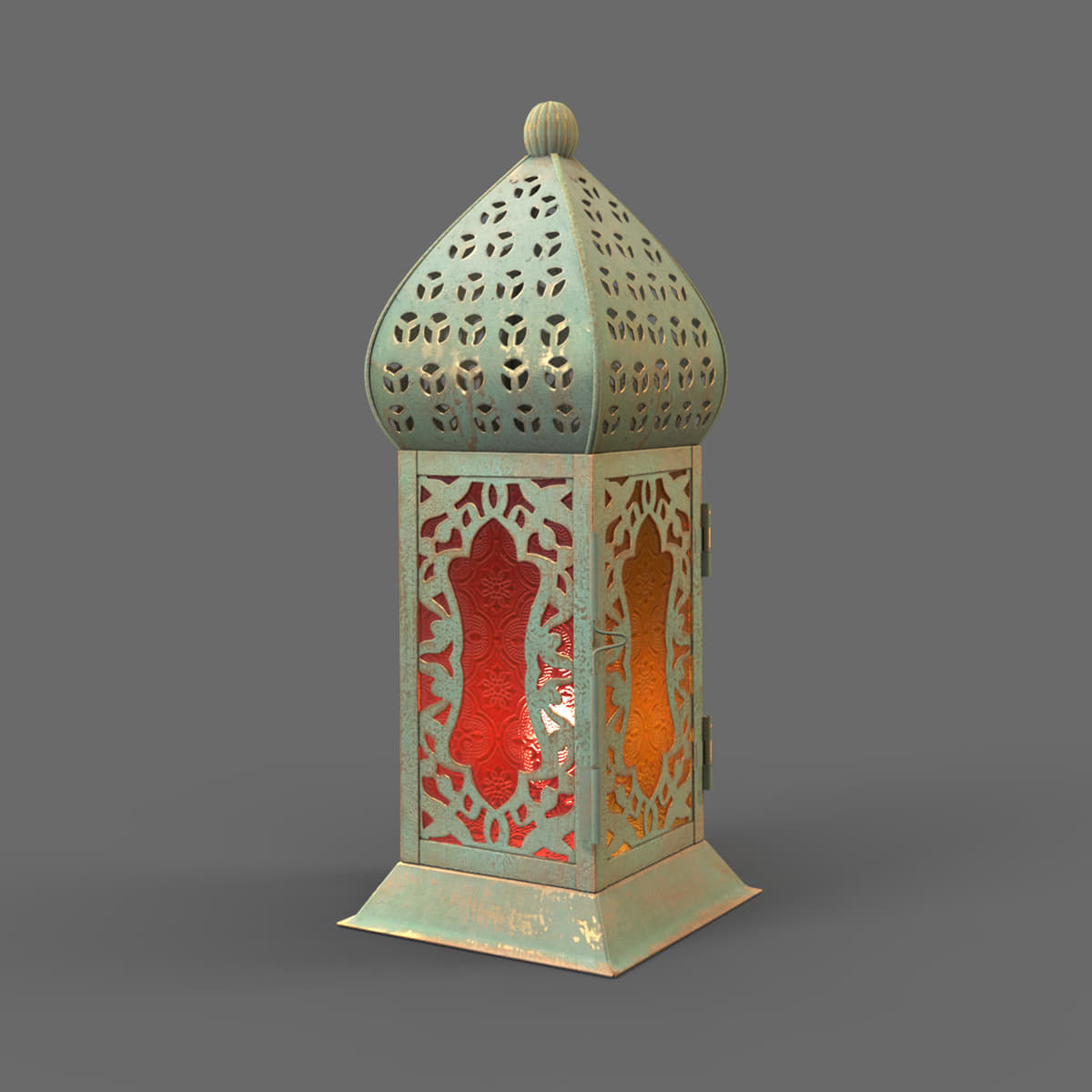 3D moroccan lantern model