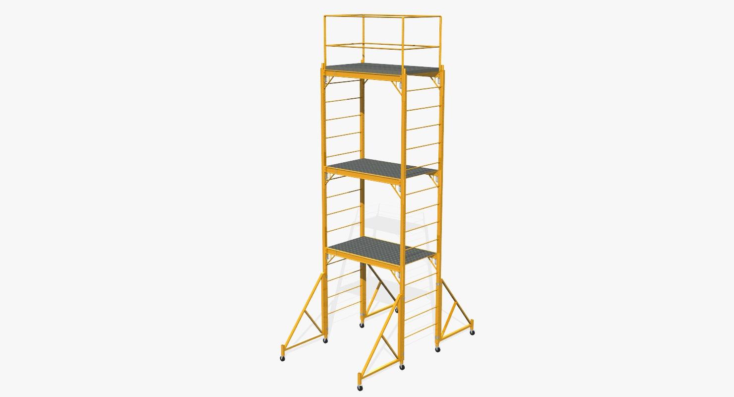 3D model scaffold tower