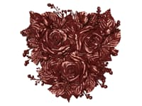 bas relief roses cnc 3D model