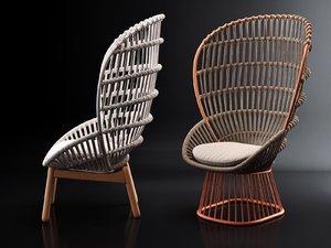 3D cala armchair model
