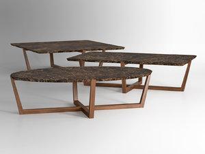 albert 1 coffee tables 3D model