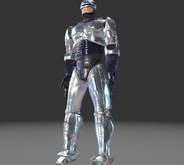 3D robo cop model