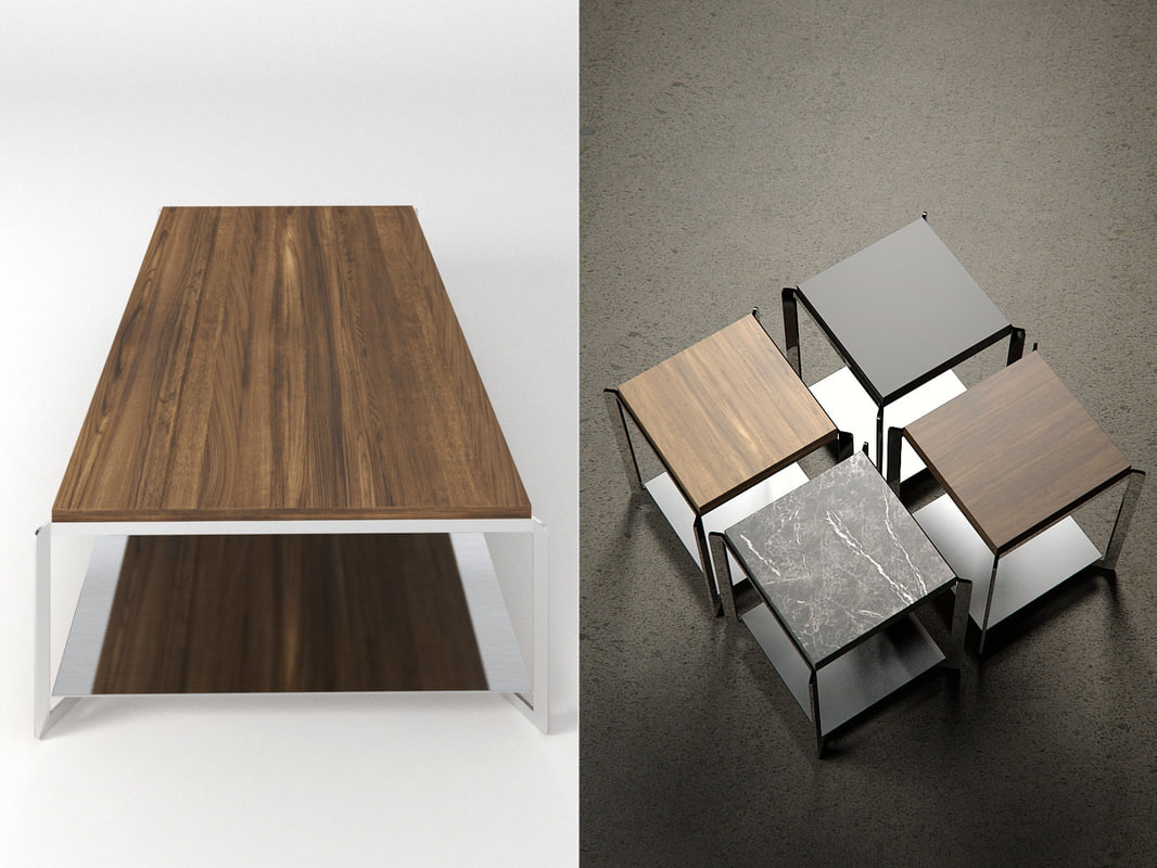 portfolio coffee table 3D model