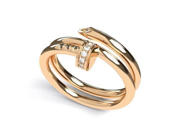 nail ring 3D model