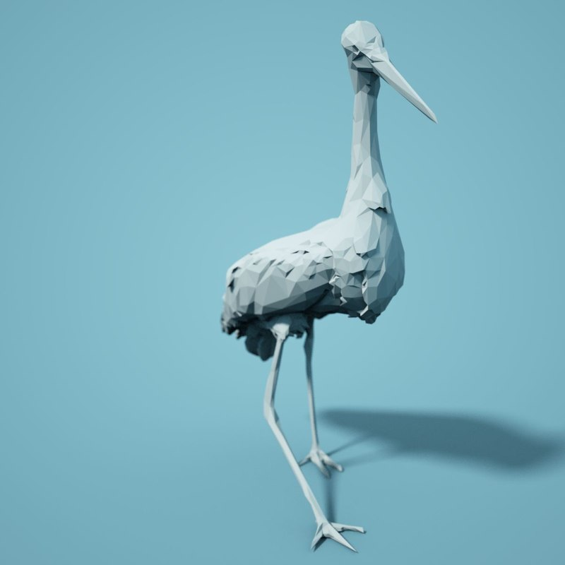 3D animal realistic faceted