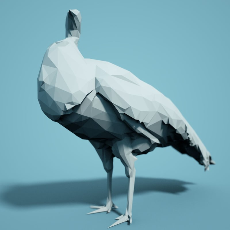 animal realistic faceted model