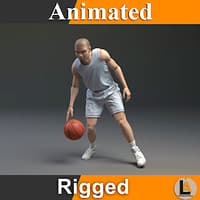 basketball character animation 3D model