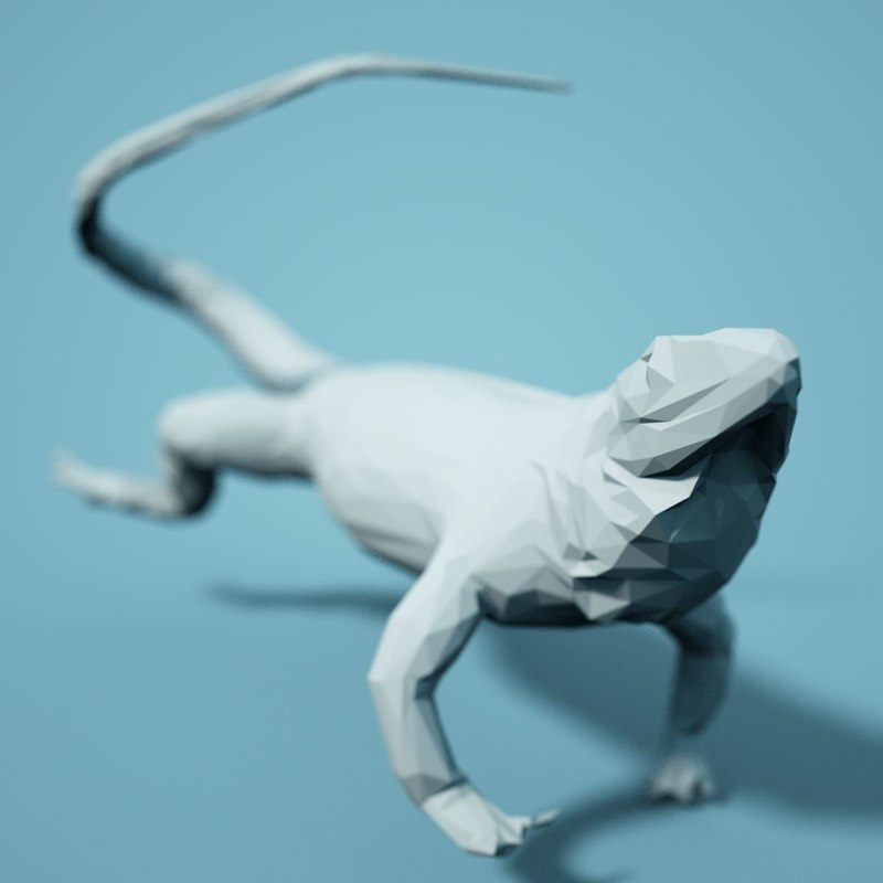 3D animal realistic faceted model