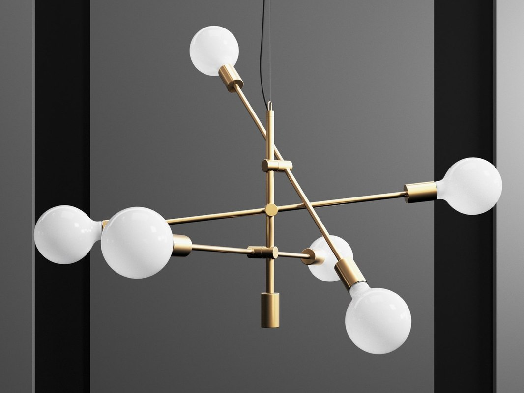 mobile chandelier 3D model