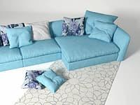 3D atollo corner sofa