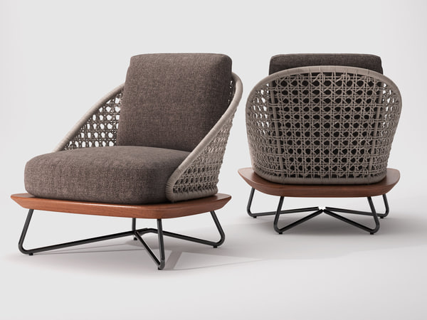 3D rivera armchair model