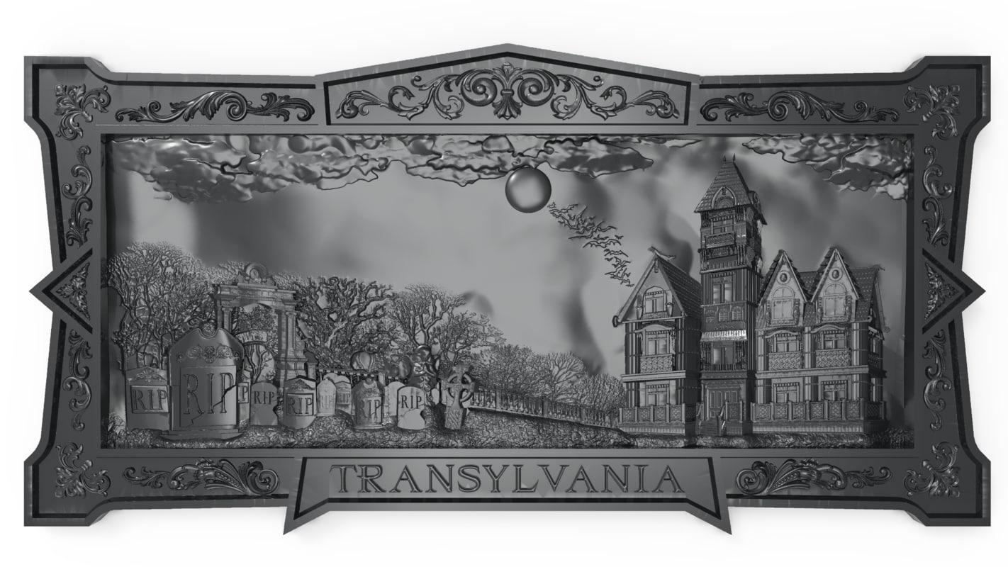 bas relief dracula s 3D model