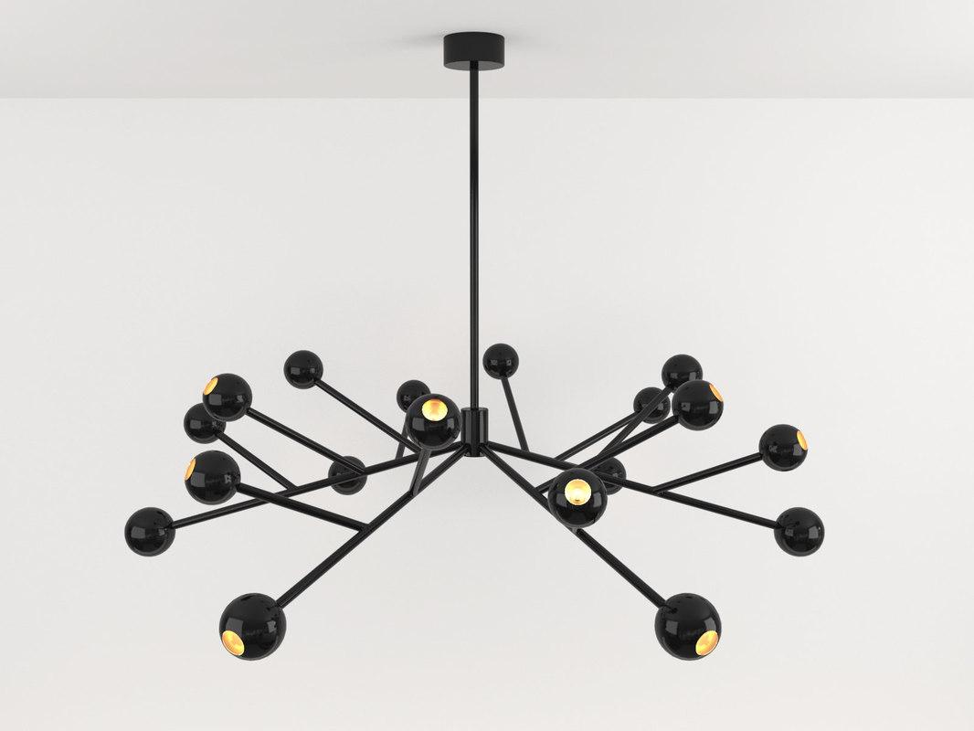 3D night chandelier model
