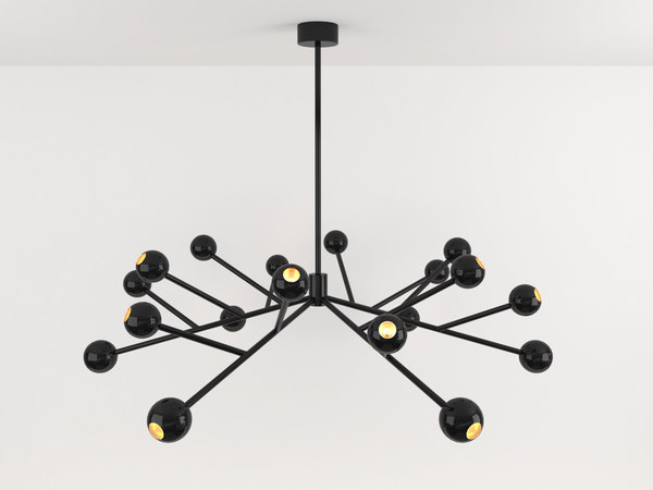 3D night chandelier model