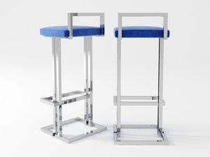 3D vintage bar stool
