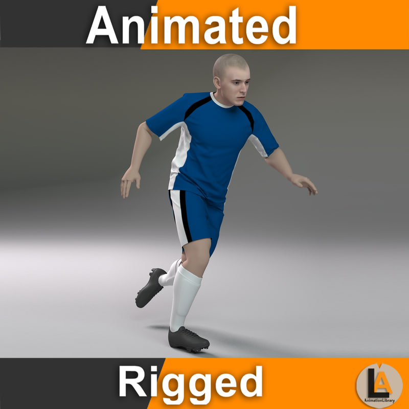 soccer player animations 3D model