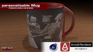 personalisable mug model