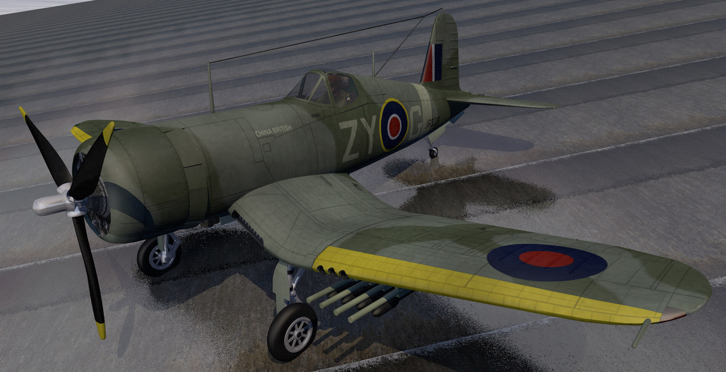 plane chance vought outlaw 3D